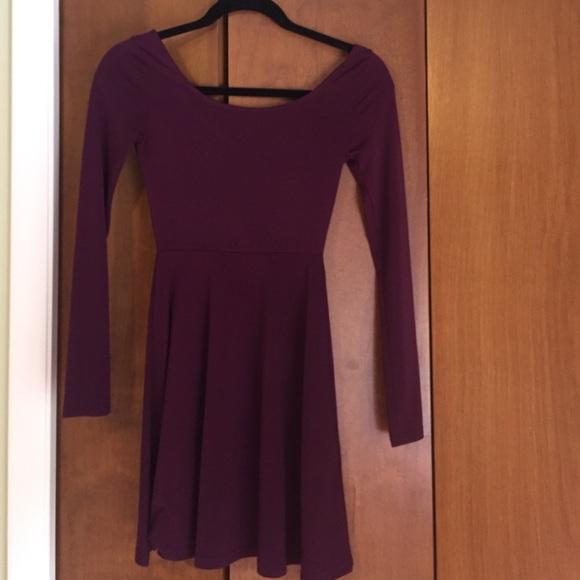 54% off Divided Dresses & Skirts - Dark purple skater dress from ...