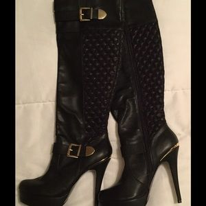 Shoes - Still available Black heeled boots/NWOT