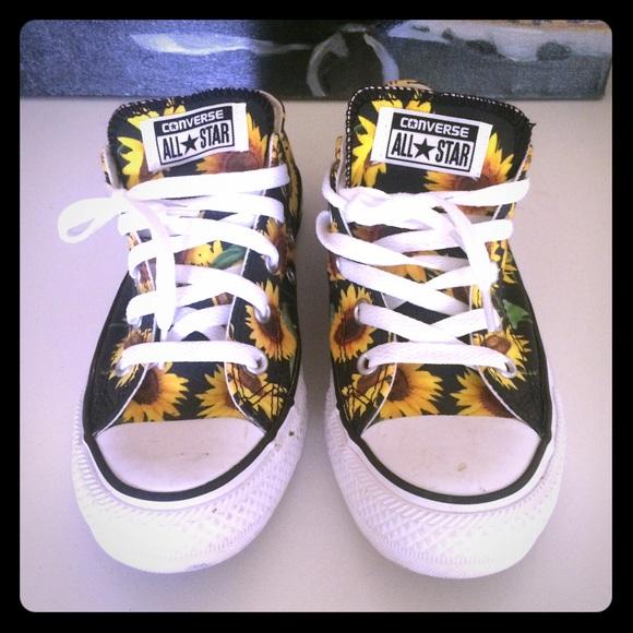 3ace630445a8 Converse Shoes - Sunflower print converse