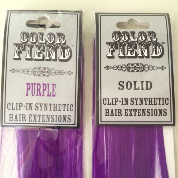 Color Fiend Accessories Final Drop 2 Purple Hair Extensions Packs