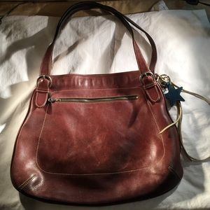 Leather Coach shoulder bag