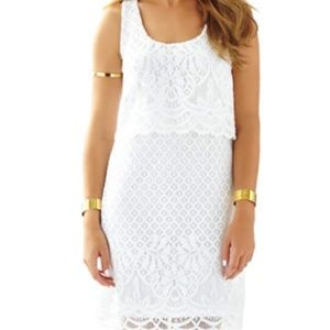 Lilly Pulitzer Stelle dress in resort white medium