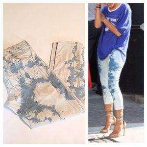 Isabel Marant Denim - Isabel Marant Blue Acid WashCropped Jeans