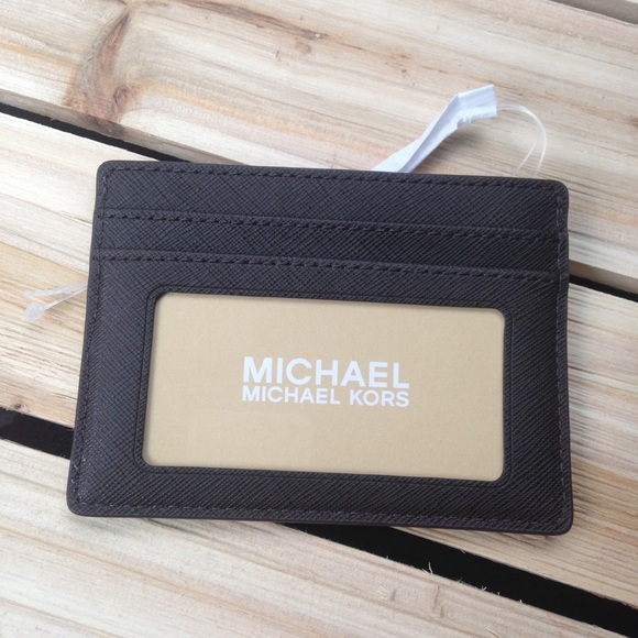 on sale 4eaee c8a2f 🎉WKND SALE!🎉 MK Brown Card Case/ID Holder Wallet NWT