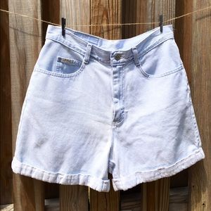 Vintage Cuffed High Waisted Denim Shorts