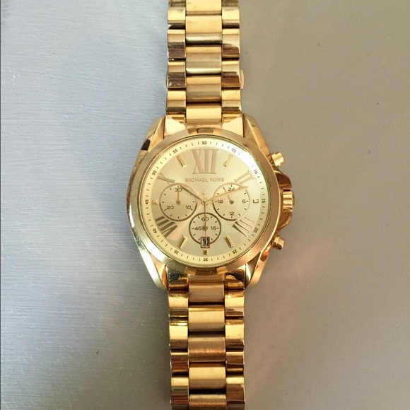 6d2bd7fe8539 Michael Kors Accessories - Michael Kors oversize Bradshaw gold-tone watch