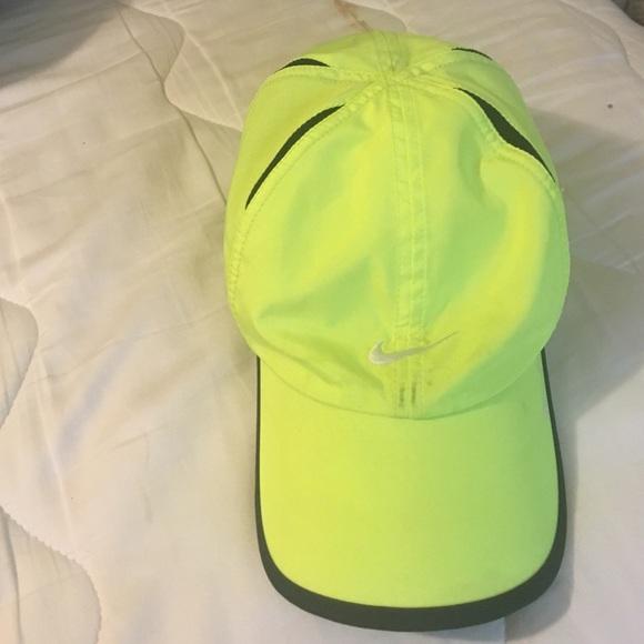 Bright neon Nike hat. M 577c01672ba50a0e49094806 e8d56df13a1