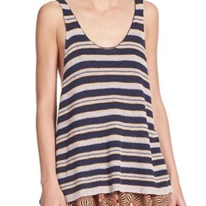 Free People sailor oversize stripe tank