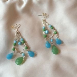 Adorable - set of blue & green earrings
