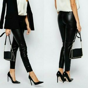 French Connection Faux Leather Legging/Pant