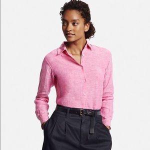 Uniqlo premium linen button front shirt