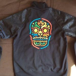 Rare Adidas track jacket skulls Mexico