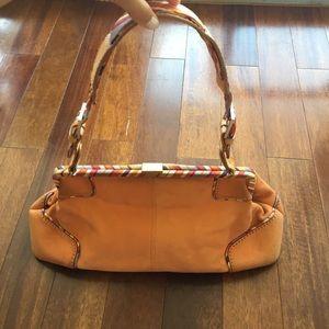 H by Hilfiger Orange Suede saddle bag