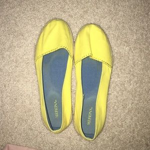 Yellow slip on
