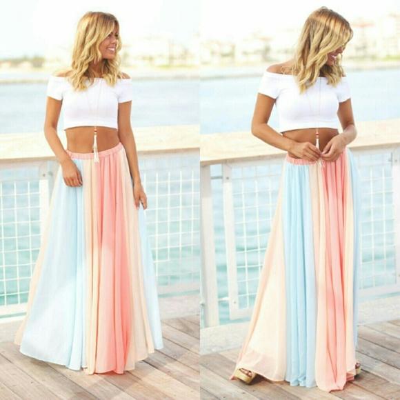 94dd44dd35f8 vanilla bay Skirts | Pastel Maxi Skirt Skirt Nwt | Poshmark
