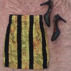PLATINUM BY DOROTHY SCHOELEN Silk Pencil Skirt