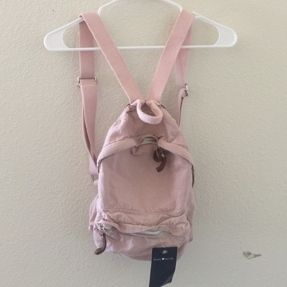 Brandy Melville - Brandy Melville blush pink mini backpack from ...
