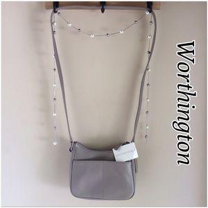 Worthington Handbags - Worthington Taupe Crossbody Bag