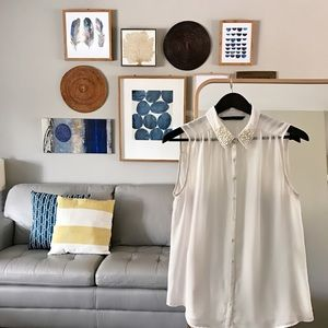 Zara Tops - Sheer Button Up