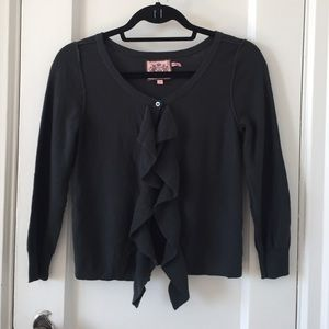 Juicy Couture Sweaters - Juicy couture grey ruffle cardigan sweater