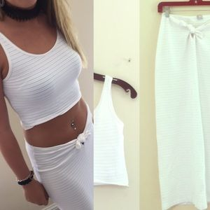 Dresses & Skirts - Made in ITALY • Crop Top • Two Piece Size Small •