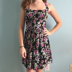 B Darlin Dresses & Skirts - Black Floral Halter Dress