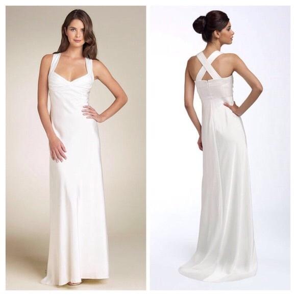 Calvin Klein Dresses | White Formal Gown | Poshmark