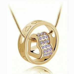Max Factor Other - Purple  Crystal  Rhinestone pendant & necklace
