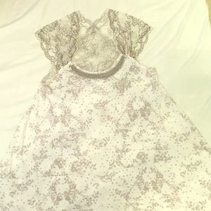 Free People Floral and Lace Top