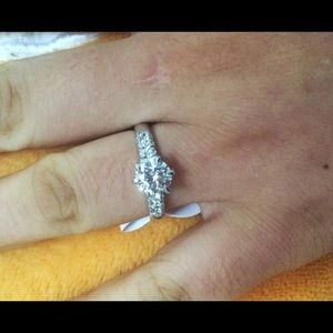 Jewelry - A New Solid Sterling Silver SONA created Ring