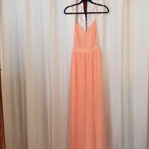 Lulus pale pink maxi dress
