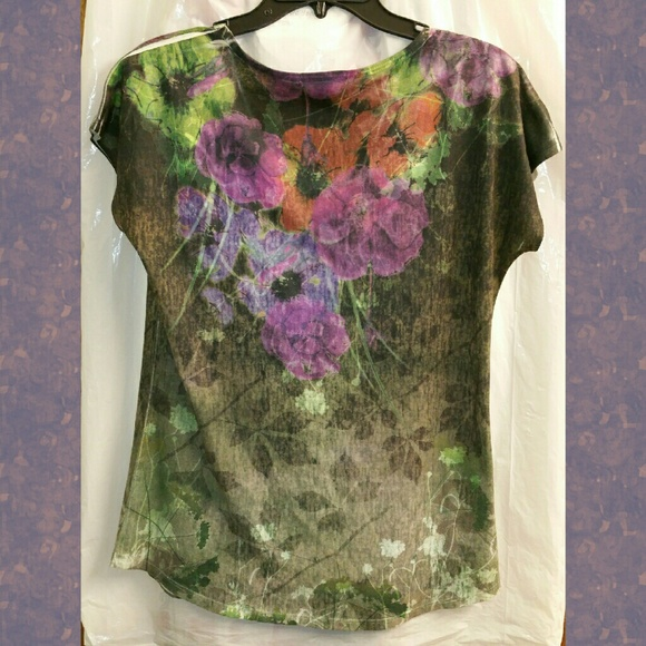 Coldwater Creek Tops - Unique ColdwaterCreek Watercolor Tee