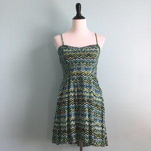 Xhilaration Dresses & Skirts - Green Chevron Sundress