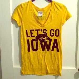 Let's Go Iowa. Iowa Hawkeyes V-neck