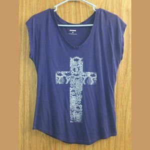 Express Floral Cross Graphic Tee