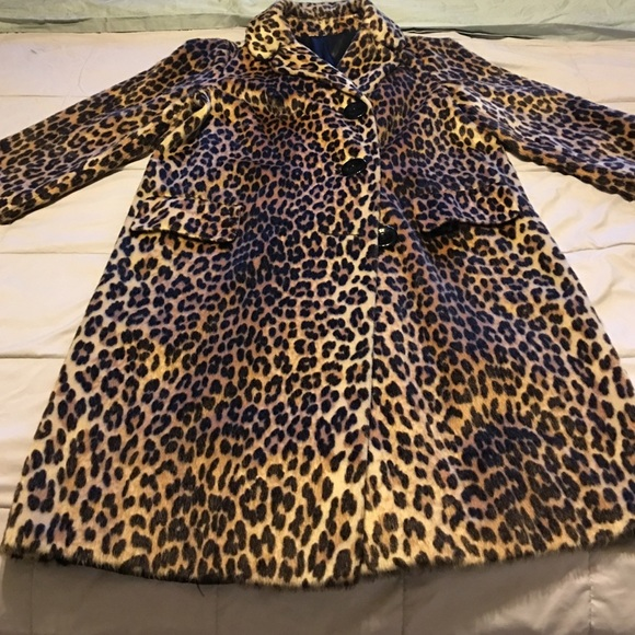 😍Vintage leopard swing coat😍