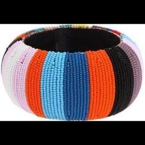 nOir Jewelry Beaded Bangle Bracelet