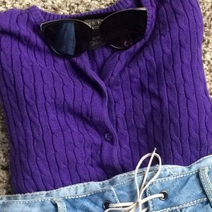 Copper Key Other - 🔅Purple Buttoned Cable-Knit Sweater, Copper Key