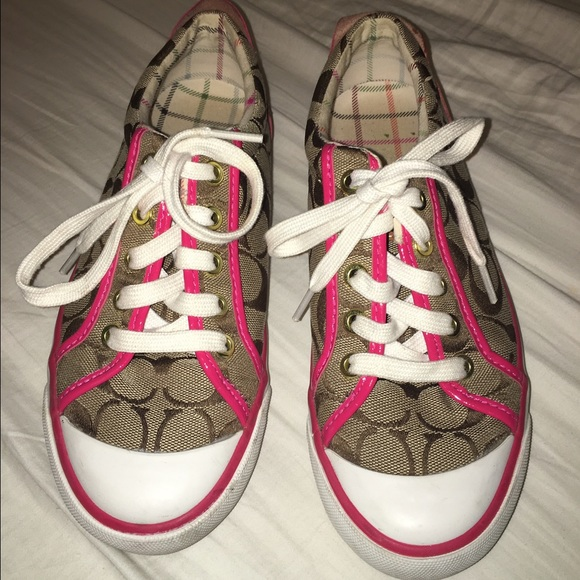 43 coach shoes coach brown and pink shoes from