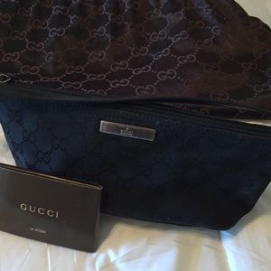 Small Gucci Canvas Clutch
