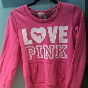 55% off PINK Victoria's Secret Tops - Love pink sweatshirt without ...