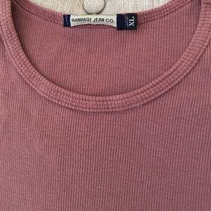 Rampage Shirts & Tops - 🆕 ✅ NWT: Rampage Dusty Pink Tee/Tank