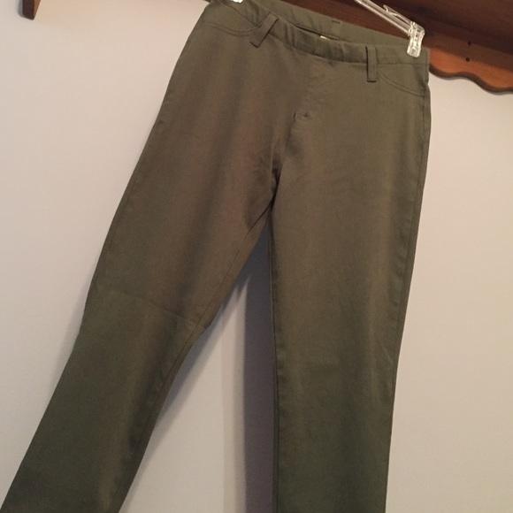 61479116972c7 Faded Glory Pants | Like New Olive Green Jeggings | Poshmark