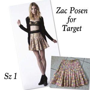 Zac Posen Dresses & Skirts - Zac Posen floral gold foil ruffle skirt  NWOT sz 1