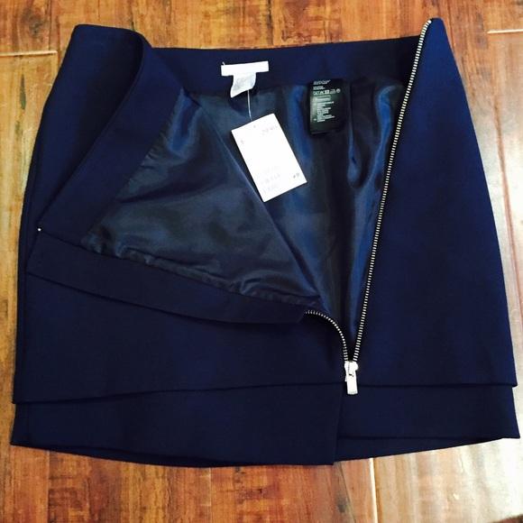 50 h m dresses skirts navy blue mini skirt with
