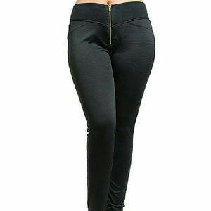 Pants - Charcoal Slim leg Knit pants Slim, stretch fit