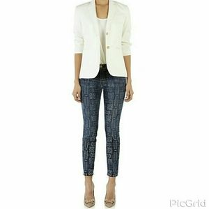 NWTCurrent/Elliott Stiletto Printed Skinny Jeans