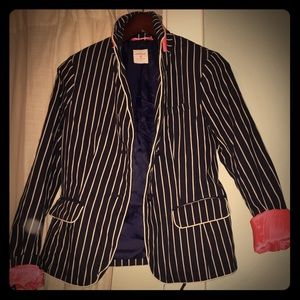 GAP navy blue striped blazer