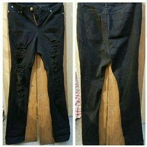 BQB Denim - 💚Restocked💓New Plus Size Distressed Skinny jeans