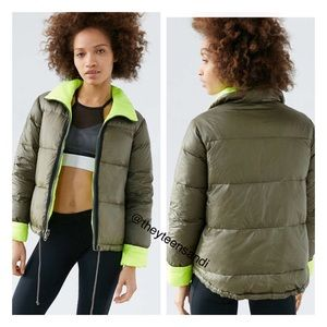 Urban Outfitters Down Reversible Puffer Jacket
